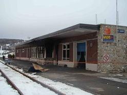 La gare de Gaspé part en fumée