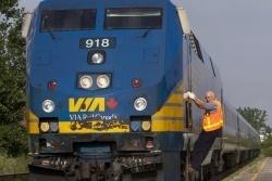 Aller en Gaspésie en train: l'enfer!