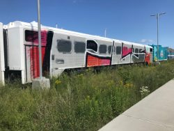 Wagons de trains vandalisés à Gaspé